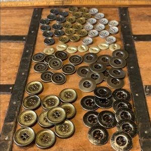 85 Vintage look metal buttons high quality crafts